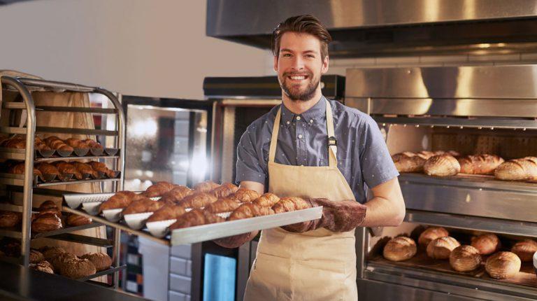 Bäcker Brot backen Bäckerei