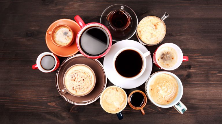 Kaffee Kaffeetassen Auswahl Sorten