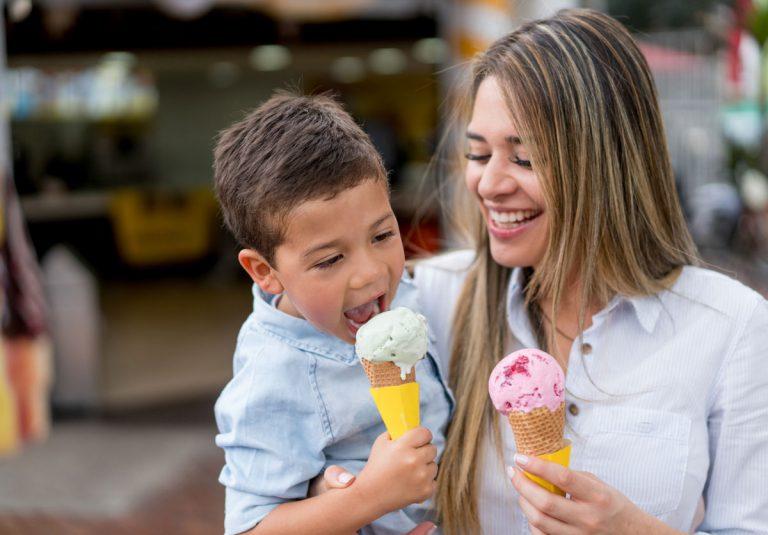 Eiscreme Eis Eisessen Kind Spaß