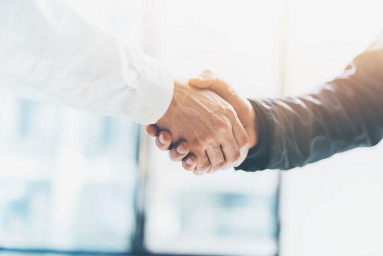 Handschlag Partnerschaft Gute Zusammenarbeit