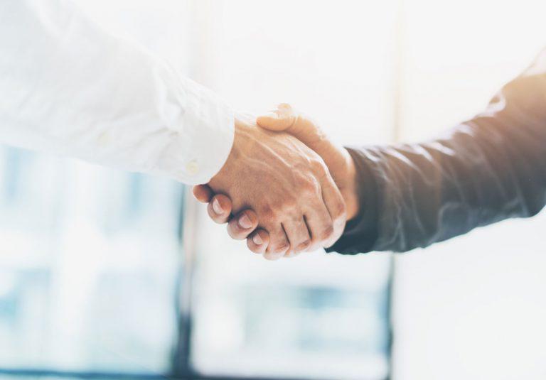Handschlag Partnerschaft Geschäfte Verlass