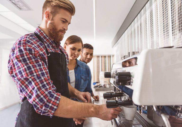 Kaffee Kaffeeschulung Maschine